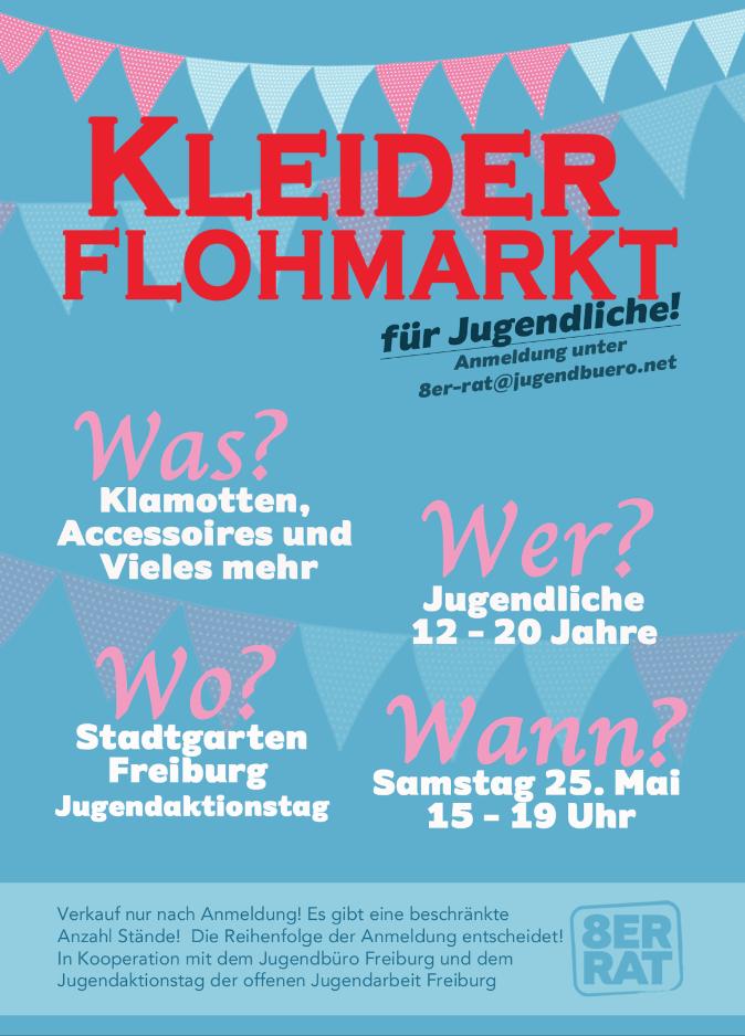 Kleiderflohmarkt für Jugendliche @ Stadtgarten Freiburg